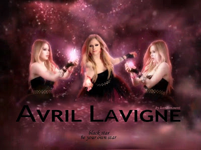 Site Blogspot  Star Wallpaper on Avril Lavigne   Wallpapers