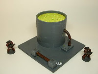 warhammer 40k pulp science fiction toxic storage vat tank 25-28 mm