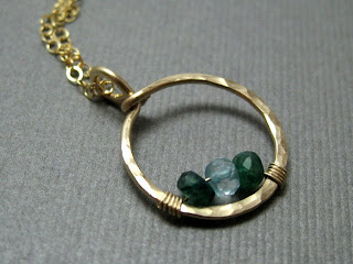 custom family birthstone gemstone necklace