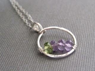 custom family birthstone necklace