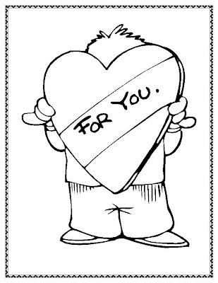 valentine coloring pages for you