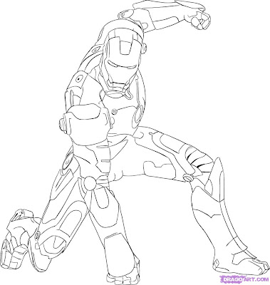 Iron  Coloring Pages on How To Draw Iron Man Step 7 Jpg