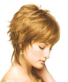 Simple Hair Style Simple Short Shag Hair Style