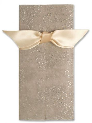 wedding invitations cover with ribbon