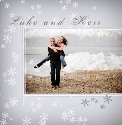 Winter Love Themed Wedding Invitations With Photo