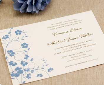 Light Purple Flower Themed Wedding Invitations Cards Design