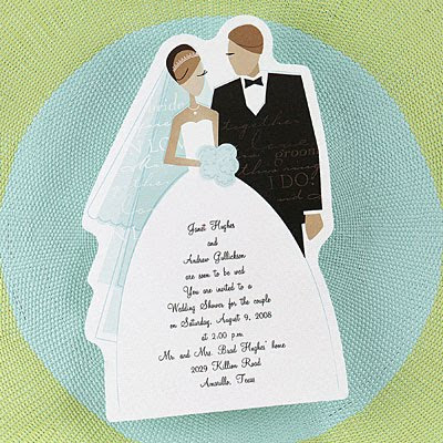 Wedding Invitations Cards With BrideGroom Design