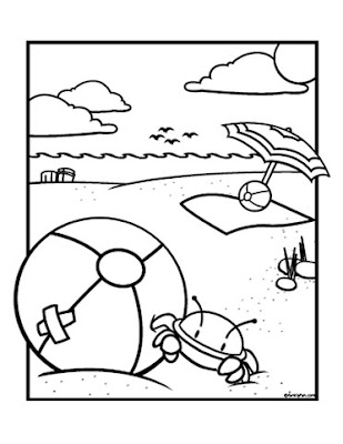 beach coloring pages june