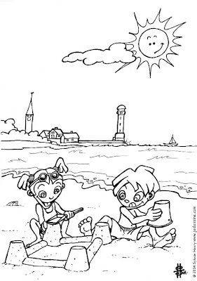beach coloring page source