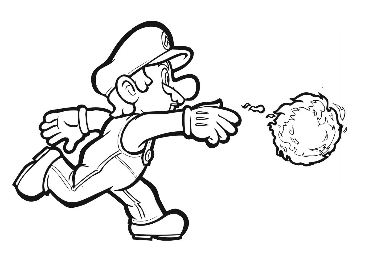 Pictures Depot Mario Bros Coloring Pages Mario Luigi Coloring Pages