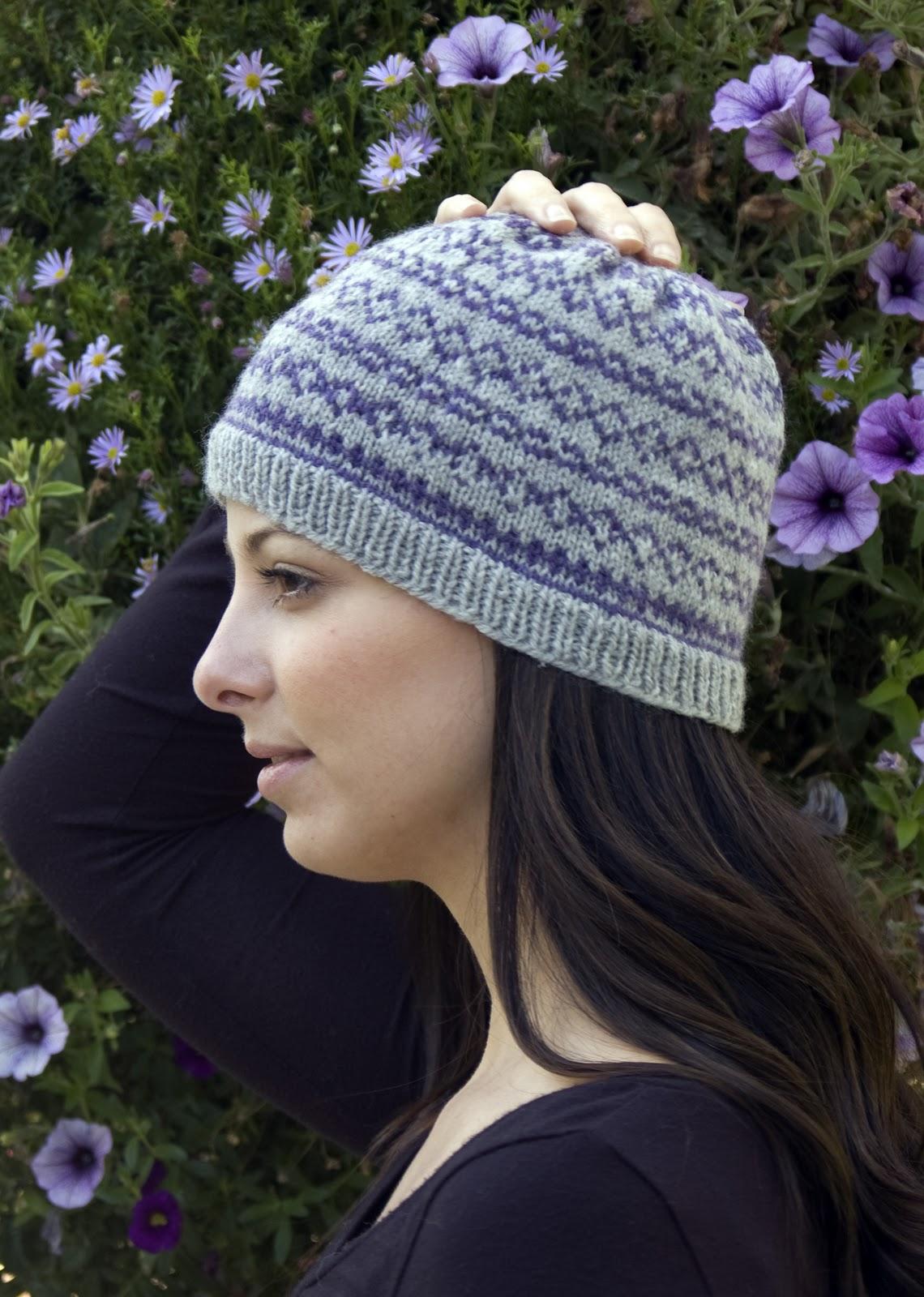 KNITTIN' PRETTY: Fair Isle Flower hat for babies