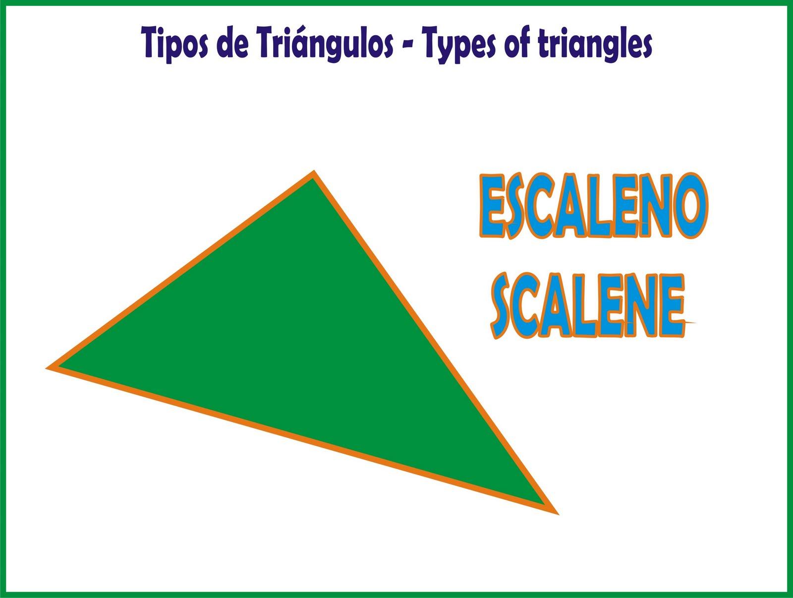 BLOGICMATES TIPOS DE TRINGULOS  TYPES OF TRIANGLES