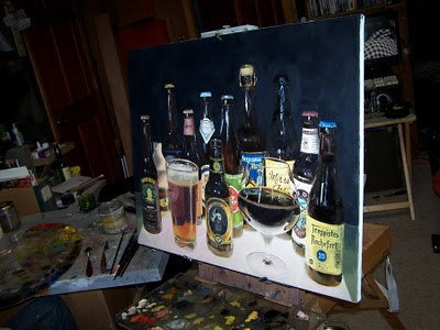 original beer oil painting still-life