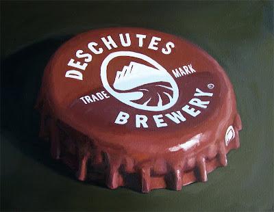 painting of Deschutes cap