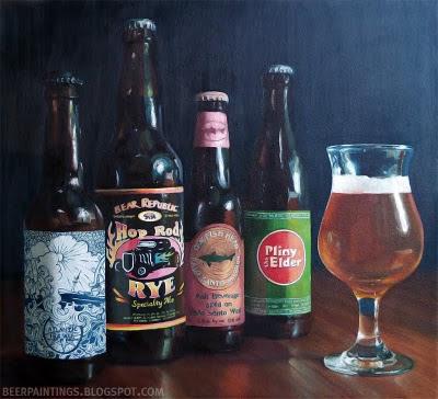 beer art with pliny the elder