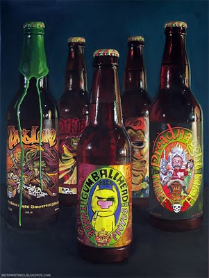 Three Floyds Oil Painting Gumballhead Dark Lord Dreadnaught art