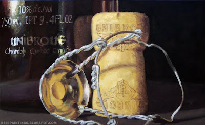 Unibroue beer painting cork and cage