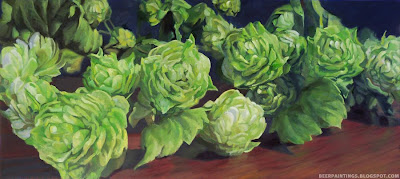 painting of hops