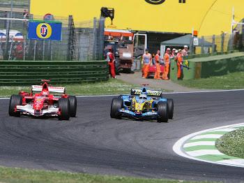Michael Schumacher, Fernando Alonso, Imola, 2006