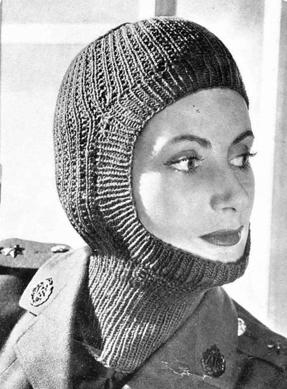 Ladies Balaclava Knitting Pattern : Knitting Now and Then: January 2011