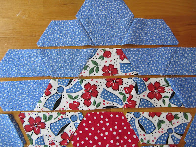 Sew Many Ways...: Machine Sewing Hexagons...Half Hexies That Is : half hexagon quilt - Adamdwight.com