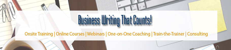 Business Writing That Counts! Blog