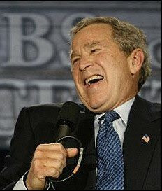 bush laughing