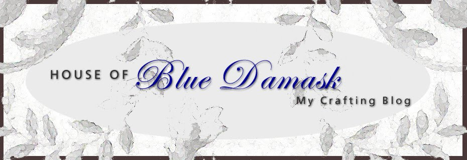 House of Blue Damask