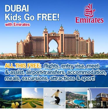 'Kids Go Free' to Dubai - Special Offers from Emirates Airlines