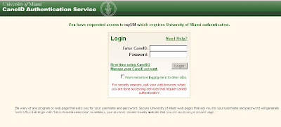 University of Miami - myUM.Miami.edu - Central Authentication Service