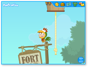 How to beat skullduggery island on poptropica?