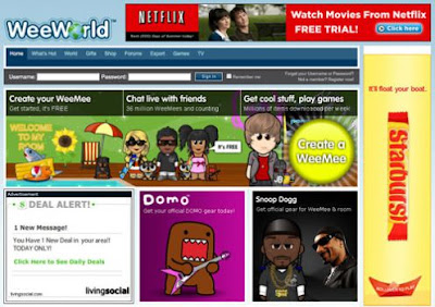 Login to Weeworld.com Social Network For Fun