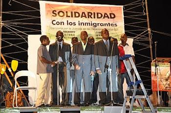 Acto en solidaridad con los inmigrantes en Almería