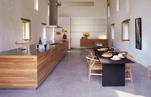 Open Plan Wooden Kitchens Design From Bulthaup B3 Kitchen 500x324jpg