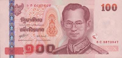 P114 100 Baht obv sig 80 2008