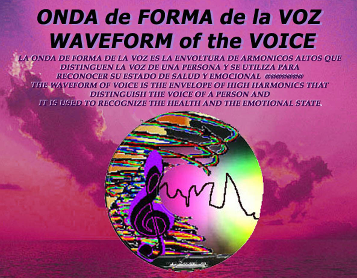 ONDA de FORMA de la VOZ  --  WAVEFORM of the VOICE
