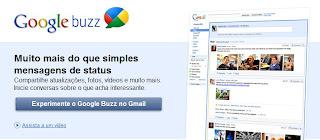 Tela Inicial Google Buzz