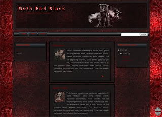 Template Goth Red Black