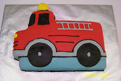 Way More Homemade My Boys Birthday Cake Fire Truck Cake Cookies