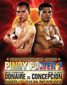 Watch Pinoy Power 2 Nonito Donaire vs Rafael Concepcion Live in Pay-Per-View
