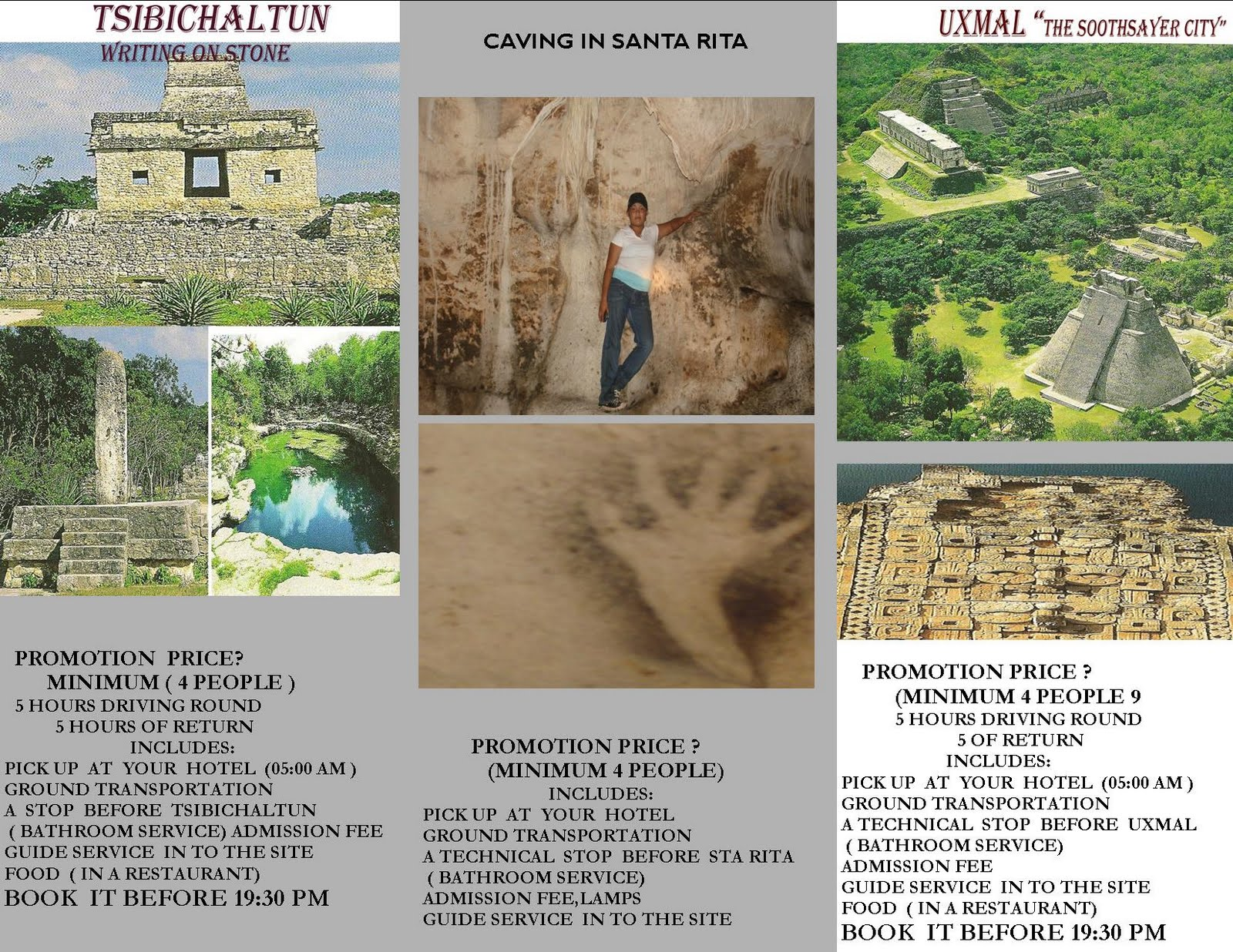TRAVEL IN ALL PARTS OF THE YUCATAN PENINSULA COMP