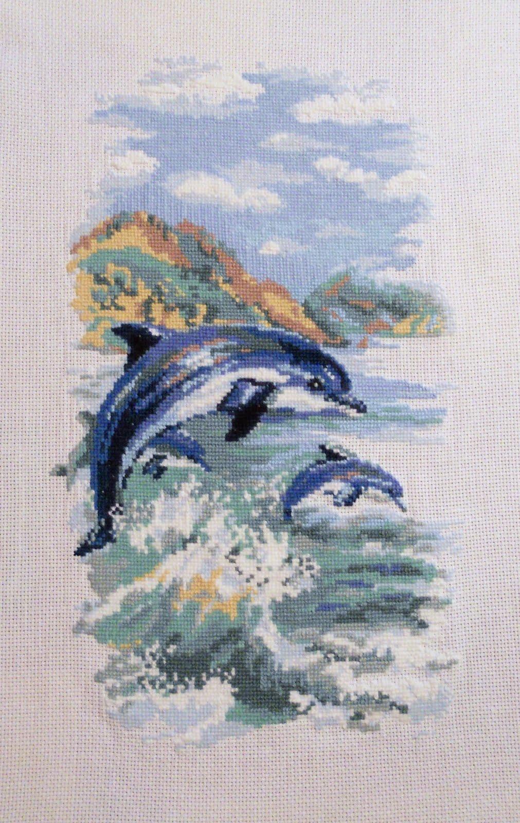 Вышивки для детей. Дельфин, рисунки для вышивки крестом 98