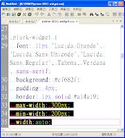 widget.css 中關於 .plurk-widget 寬度的樣式規則