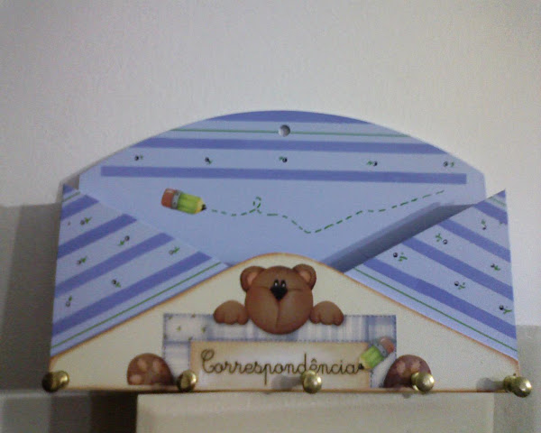 Porta Correspondencia e Chaves (envelope) azul - R$ 20,00