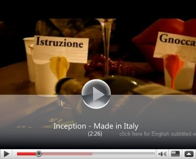 Inception Made in Italy parodia