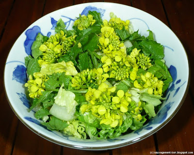 Salade moutarde et oseille