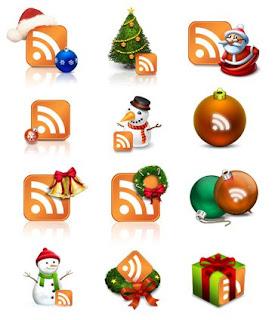 Рождественские иконки RSS
