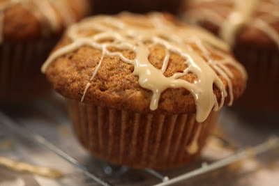 Bo's Bowl: Banana Nut Muffins with Maple Syrup Glaze