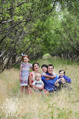 The Nielson Family - Copyright bluelily.squarespace.com  Wendy Whitacre