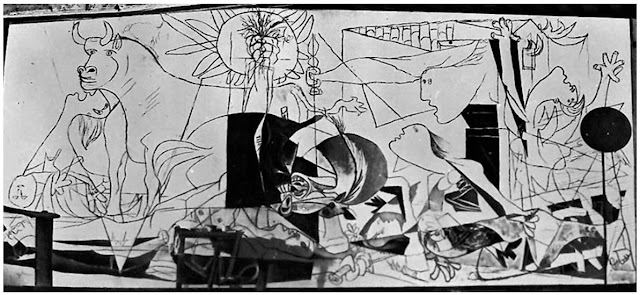 guernica and essays Guernica is a painting that was created by pablo picasso in 1937 in response to the bombing of guernica by german and italian warplanes at the command of.